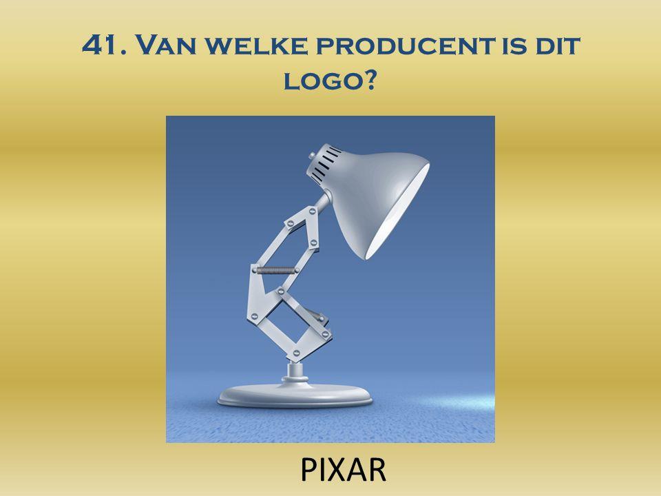 41. Van welke producent is dit logo PIXAR