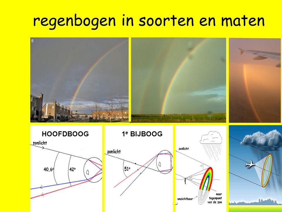 1 e BIJBOOG regenbogen in soorten en maten HOOFDBOOG