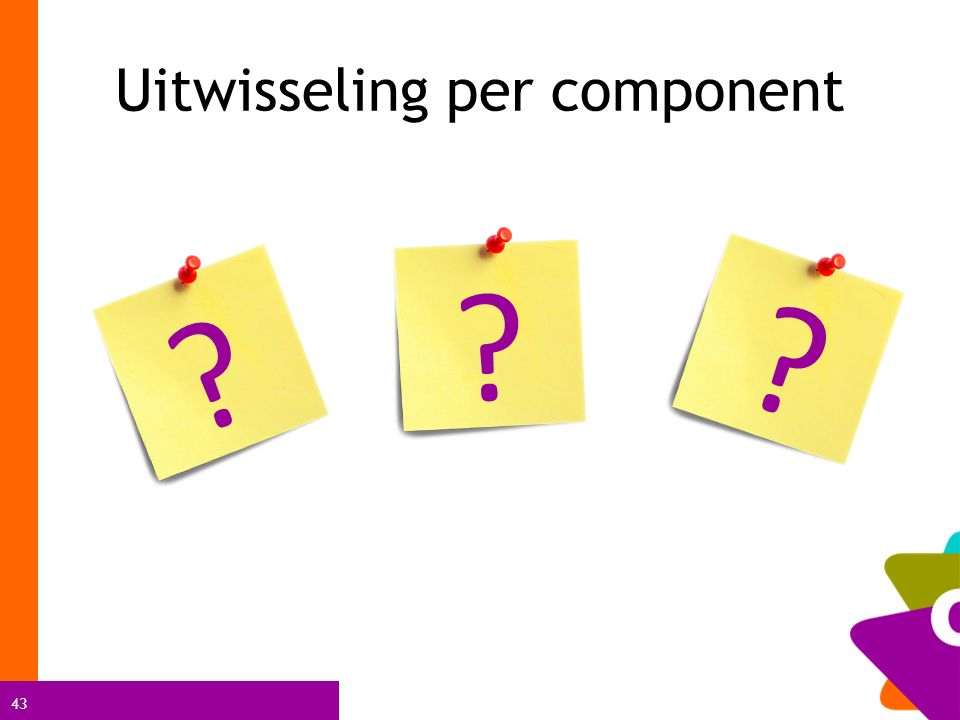 43 ? ? ? Uitwisseling per component