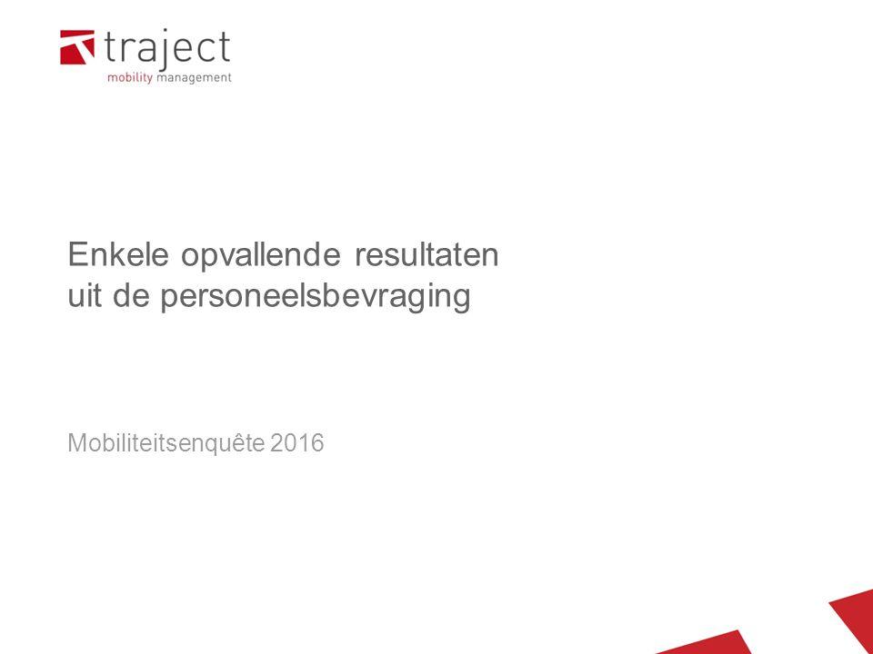 Enkele opvallende resultaten uit de personeelsbevraging Mobiliteitsenquête 2016