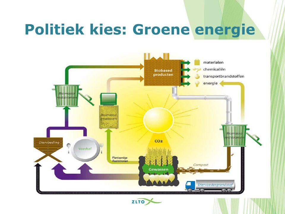 Politiek kies: Groene energie Plantaardige Reststromen
