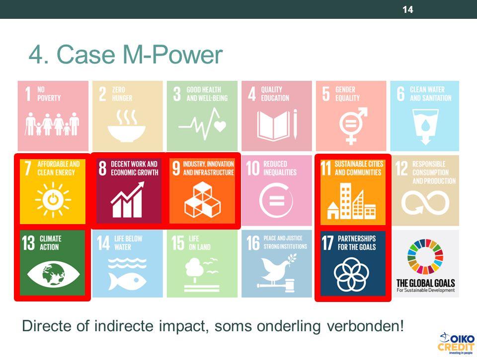 4. Case M-Power 14 Directe of indirecte impact, soms onderling verbonden!