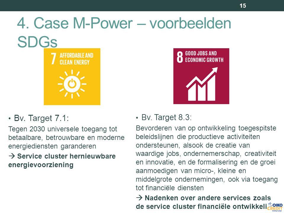 4. Case M-Power – voorbeelden SDGs Bv.
