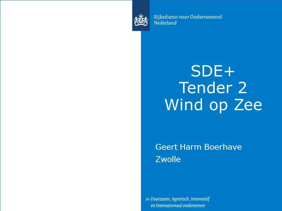 SDE+ Tender 2 Wind op Zee Geert Harm Boerhave Zwolle