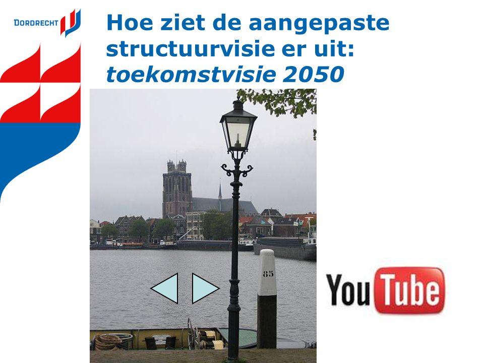 Hoe ziet de aangepaste structuurvisie er uit: Ruimtelijke structuur Stad aan Europese corridors Hollandse Waterstad Stad aan de Biesbosch Brandpunten raster Samen Stad