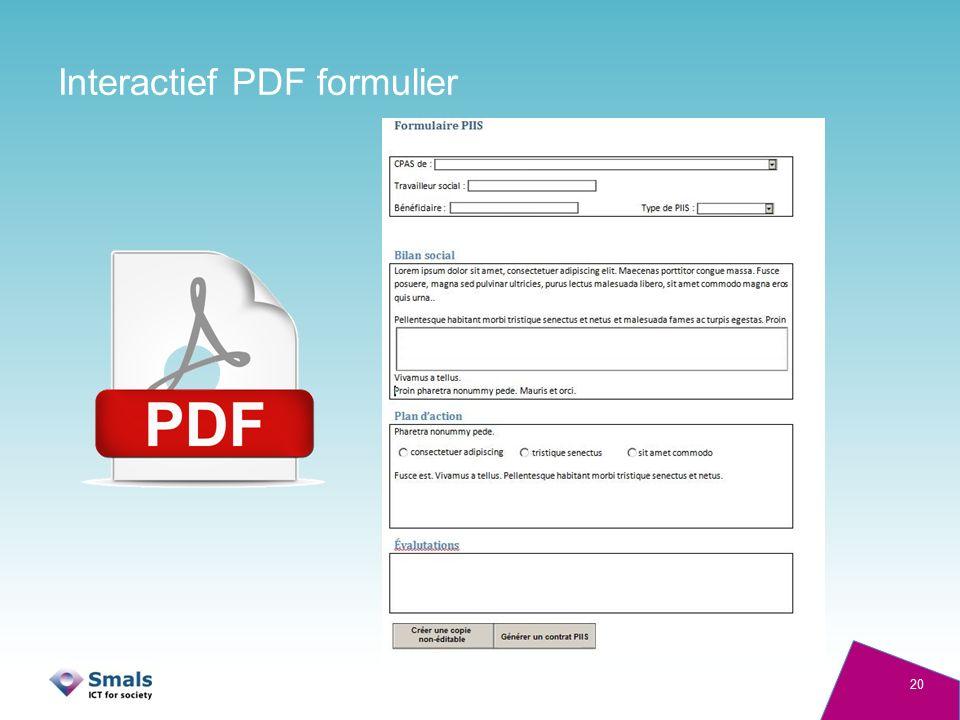 Interactief PDF formulier 20