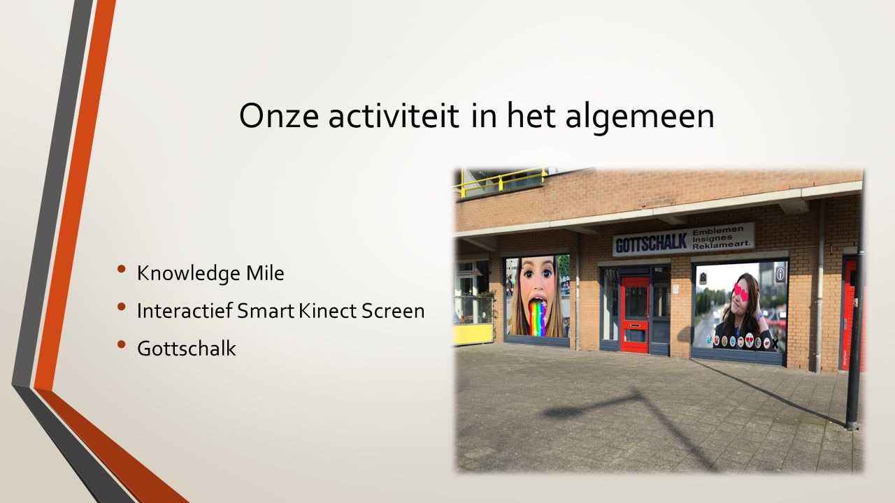 Onze activiteit in het algemeen Knowledge Mile Interactief Smart Kinect Screen Gottschalk