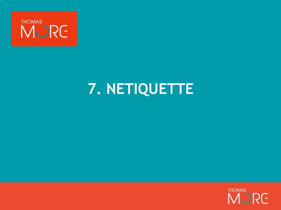 7. NETIQUETTE