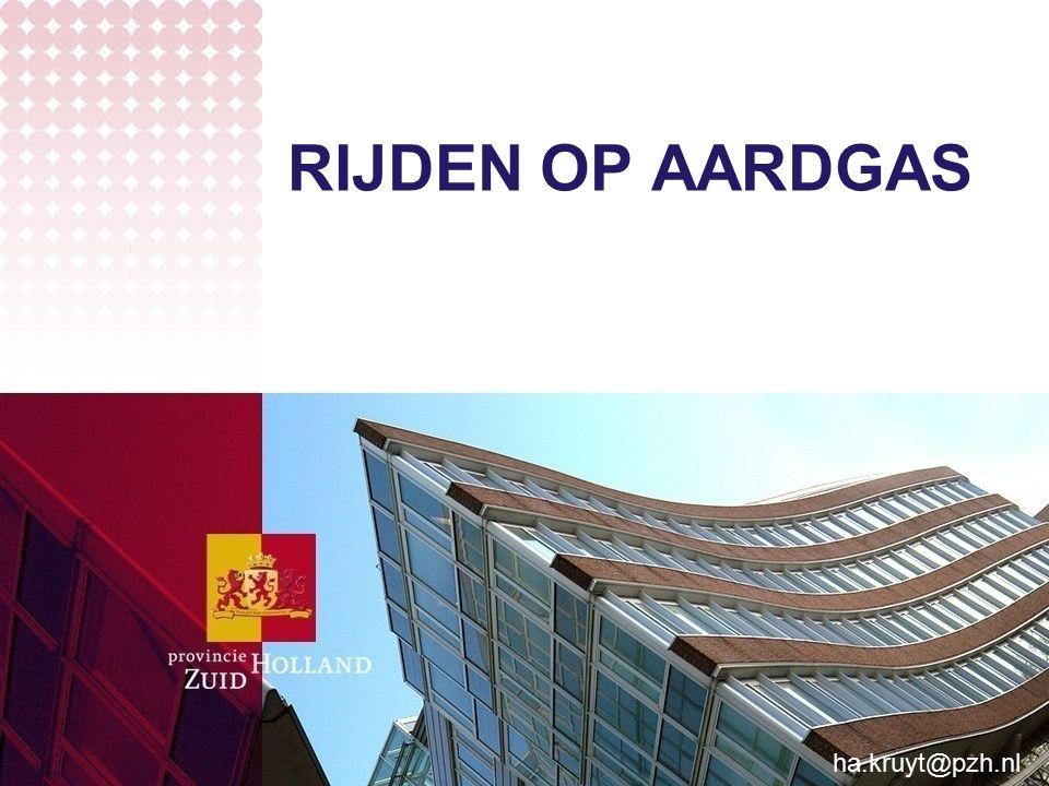 RIJDEN OP AARDGAS ha.kruyt@pzh.nl