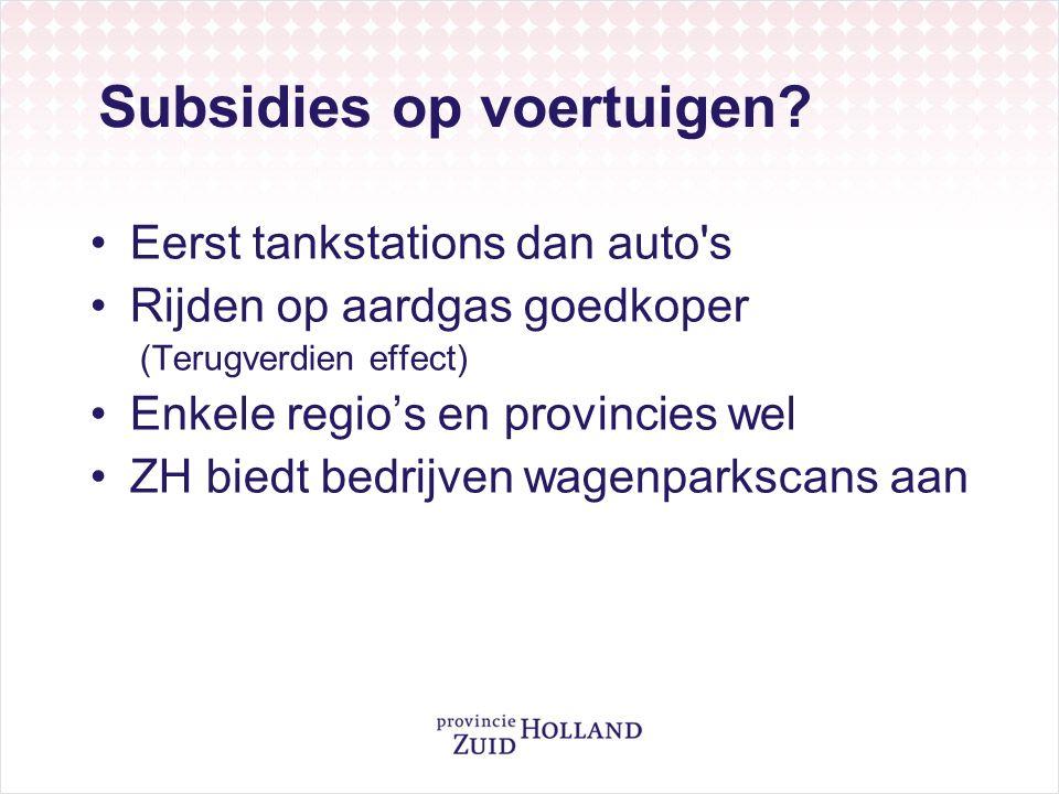 Subsidies op voertuigen.