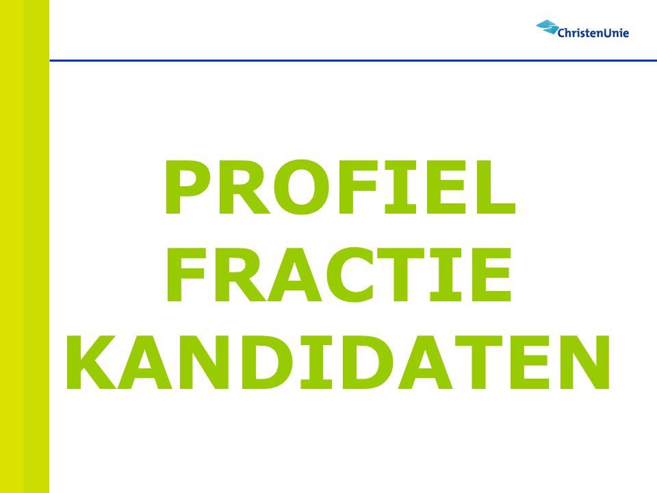 PROFIEL FRACTIE KANDIDATEN