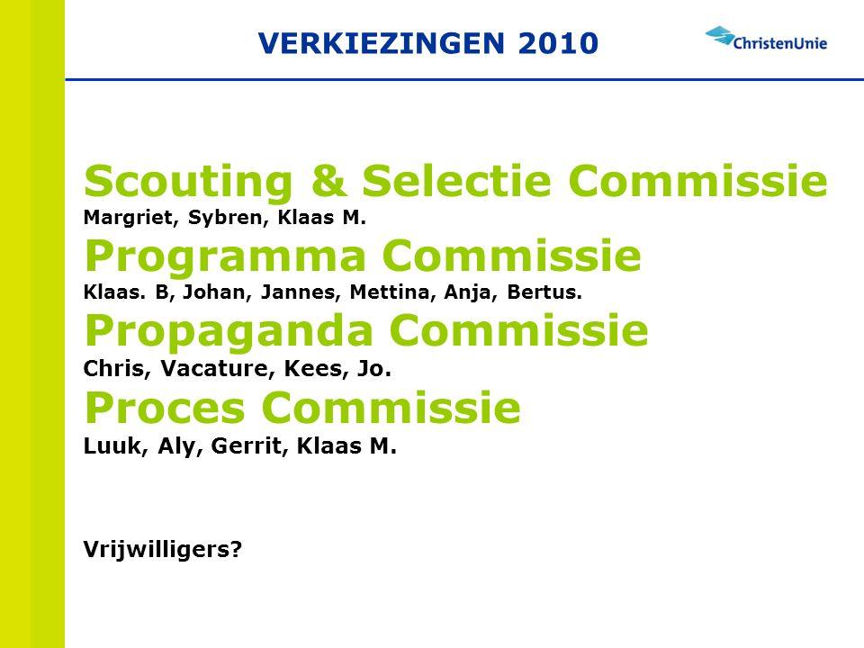 Scouting & Selectie Commissie Margriet, Sybren, Klaas M.