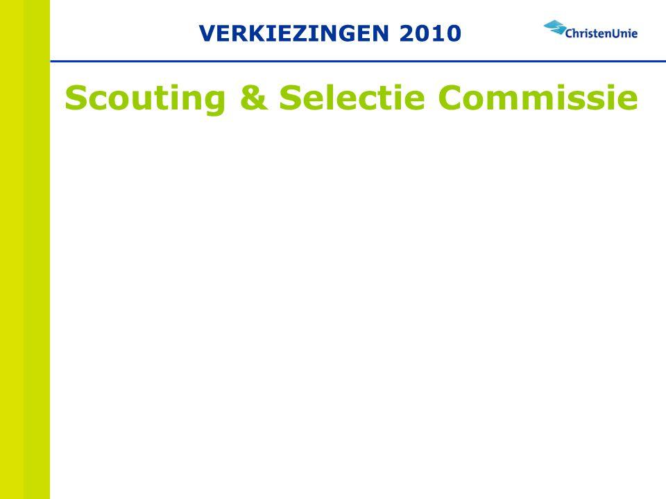 Scouting & Selectie Commissie VERKIEZINGEN 2010