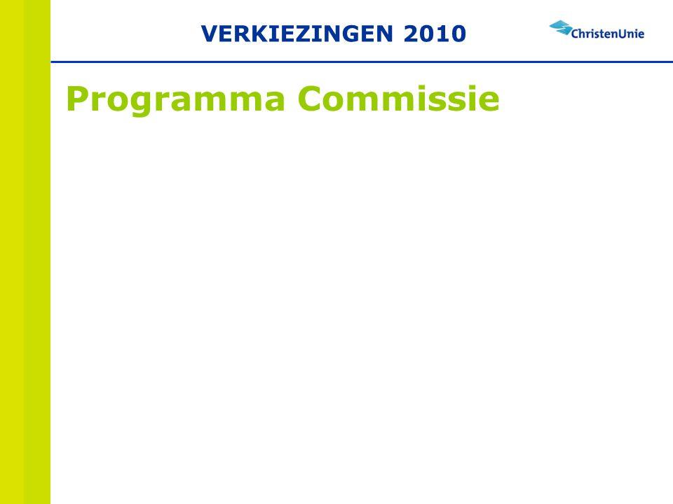 Programma Commissie VERKIEZINGEN 2010