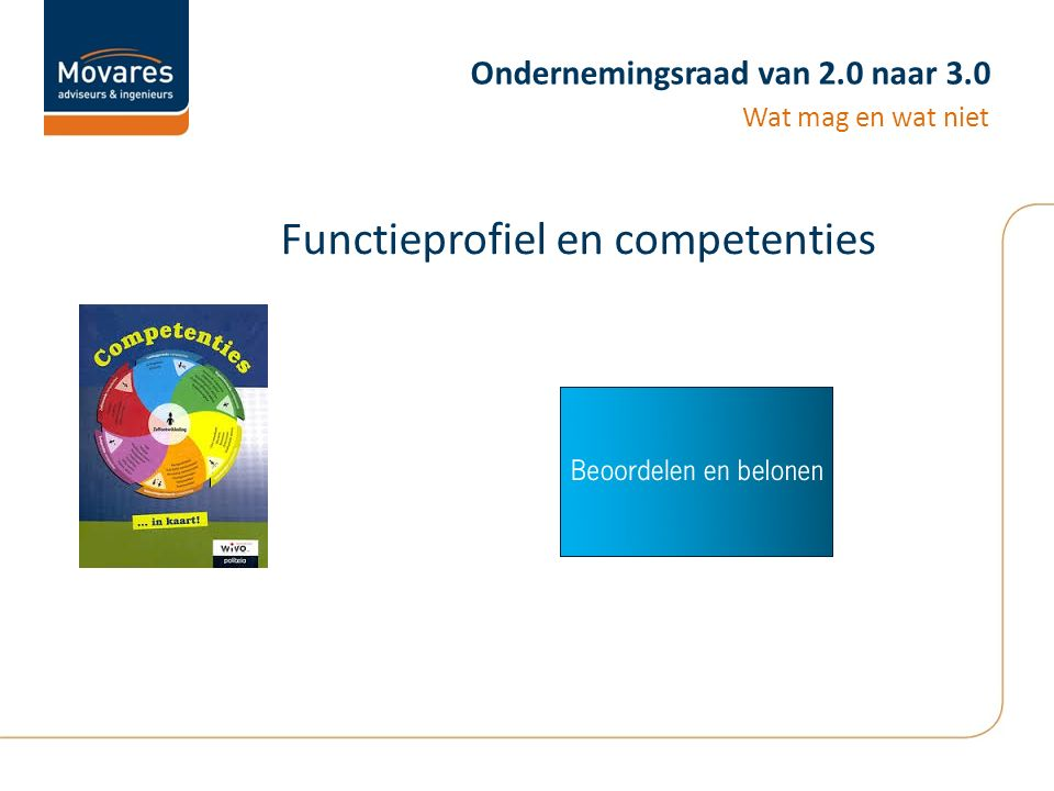 Ondernemingsraad van 2.0 naar 3.0 Functieprofiel en competenties Wat mag en wat niet