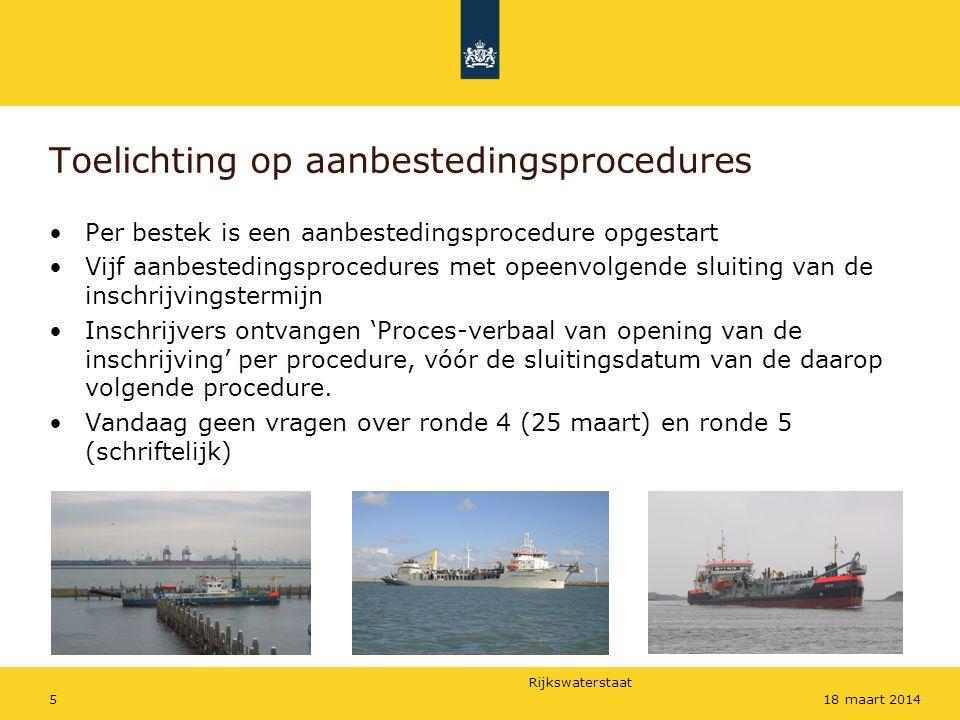 Rijkswaterstaat 618 maart 2014 Tijdspad aanbestedingsprocedures