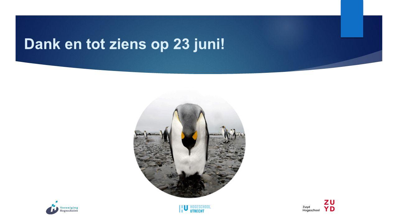 Dank en tot ziens op 23 juni!