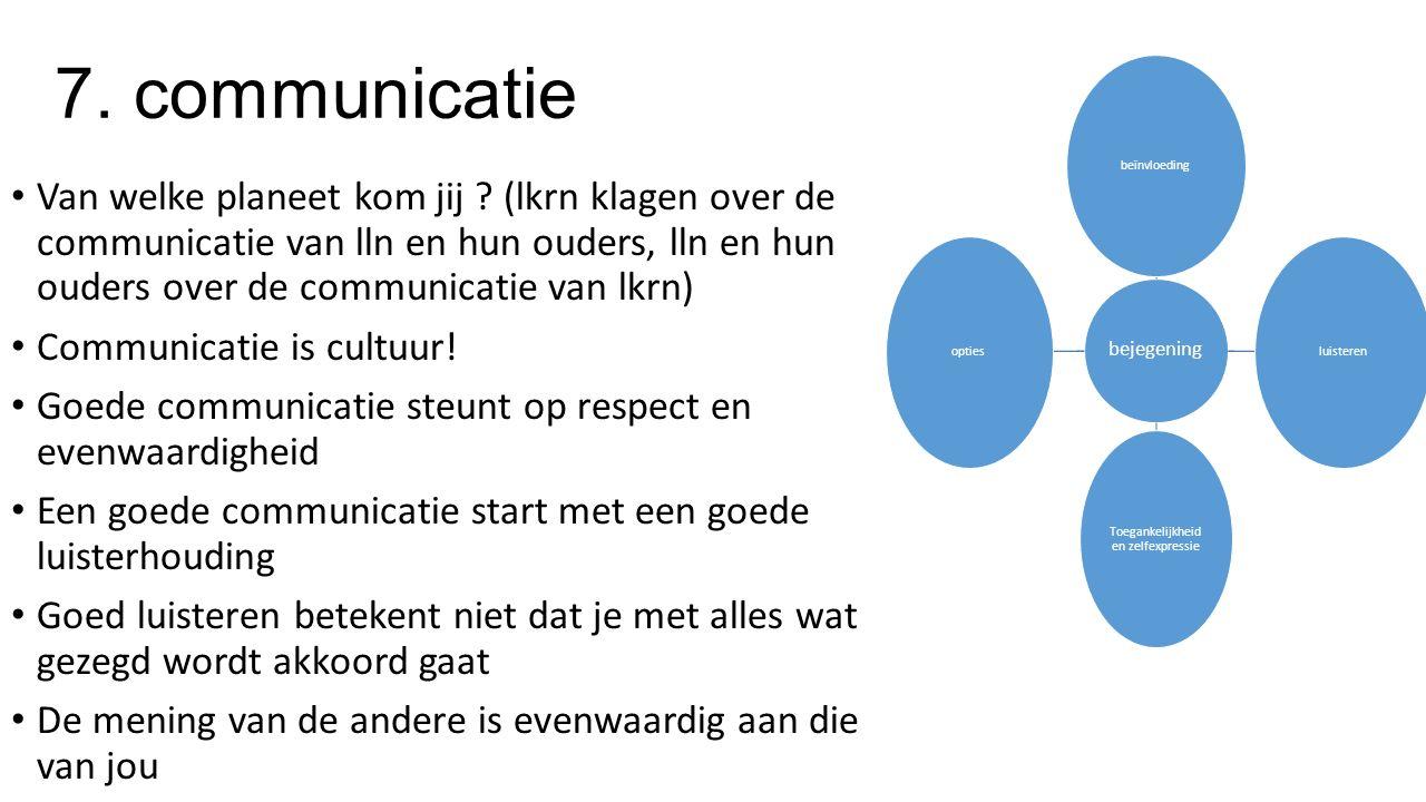 7. communicatie Van welke planeet kom jij .