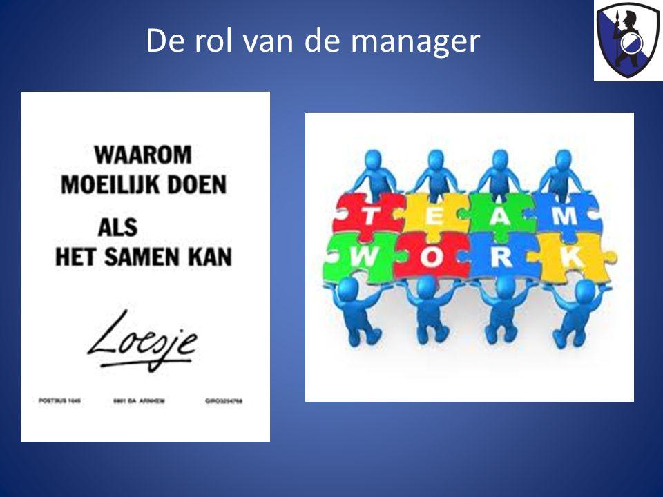 De rol van de manager
