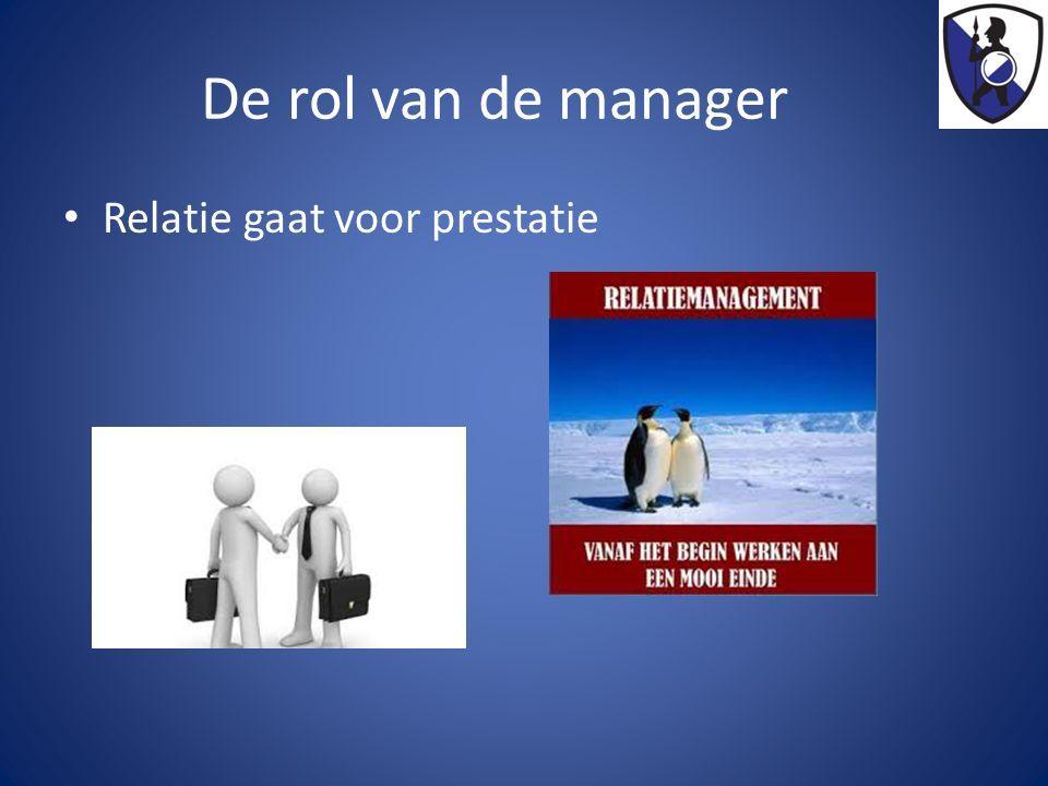 De rol van de manager Relatie gaat voor prestatie