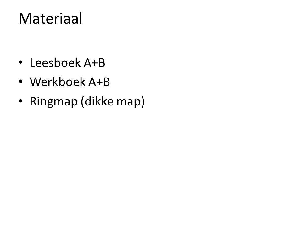 Materiaal Leesboek A+B Werkboek A+B Ringmap (dikke map)