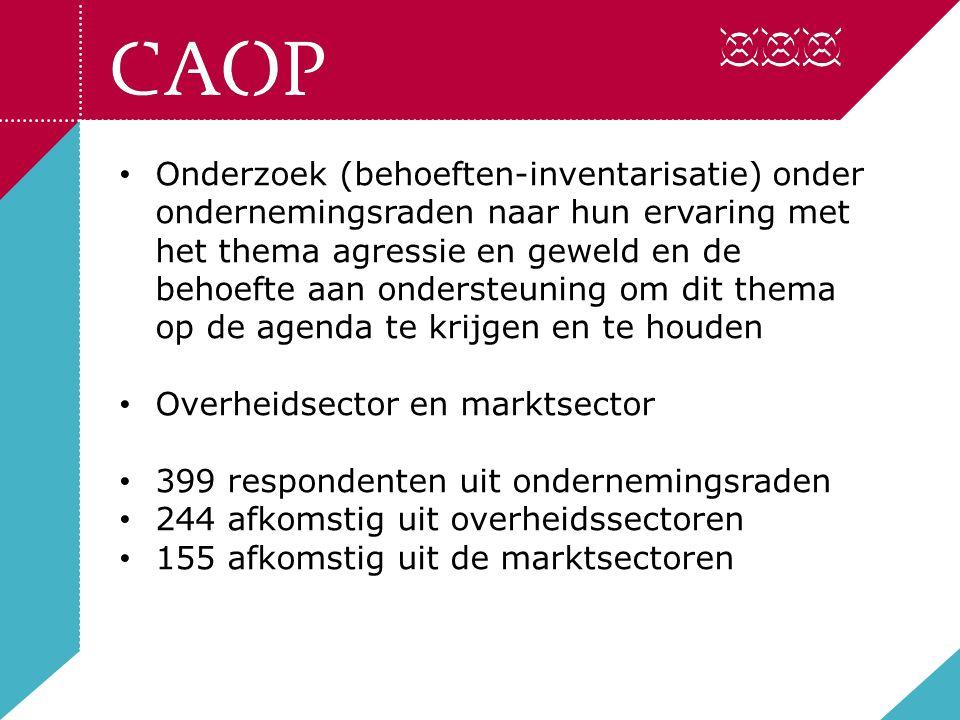 In hoeverre rekent de ondernemingsraad deze maatregel tot haar werkterrein?