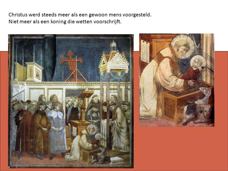 Christus werd steeds meer als een gewoon mens voorgesteld.