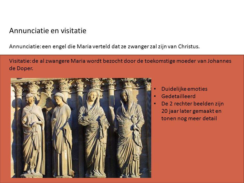 Annunciatie en visitatie Annunciatie: een engel die Maria verteld dat ze zwanger zal zijn van Christus.
