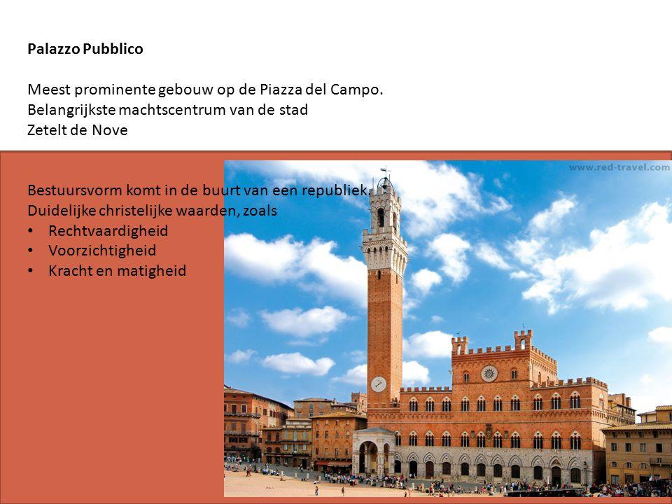 Palazzo Pubblico Meest prominente gebouw op de Piazza del Campo.