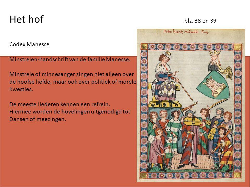 Het hof blz. 38 en 39 Codex Manesse Minstrelen-handschrift van de familie Manesse.