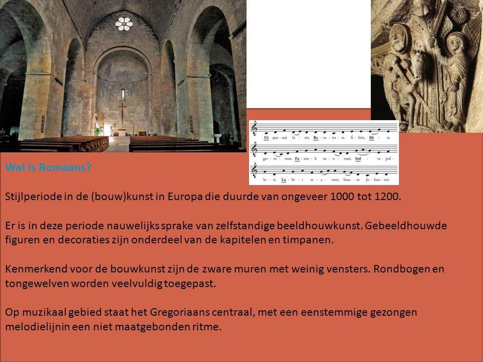 Wat is Romaans. Stijlperiode in de (bouw)kunst in Europa die duurde van ongeveer 1000 tot 1200.