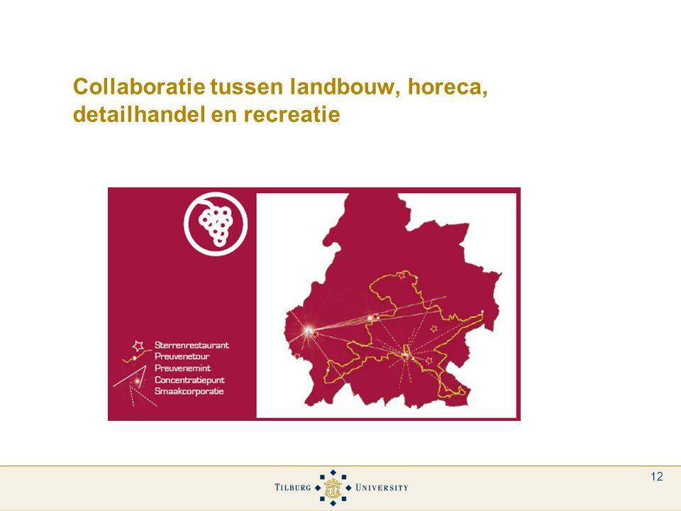 12 Collaboratie tussen landbouw, horeca, detailhandel en recreatie