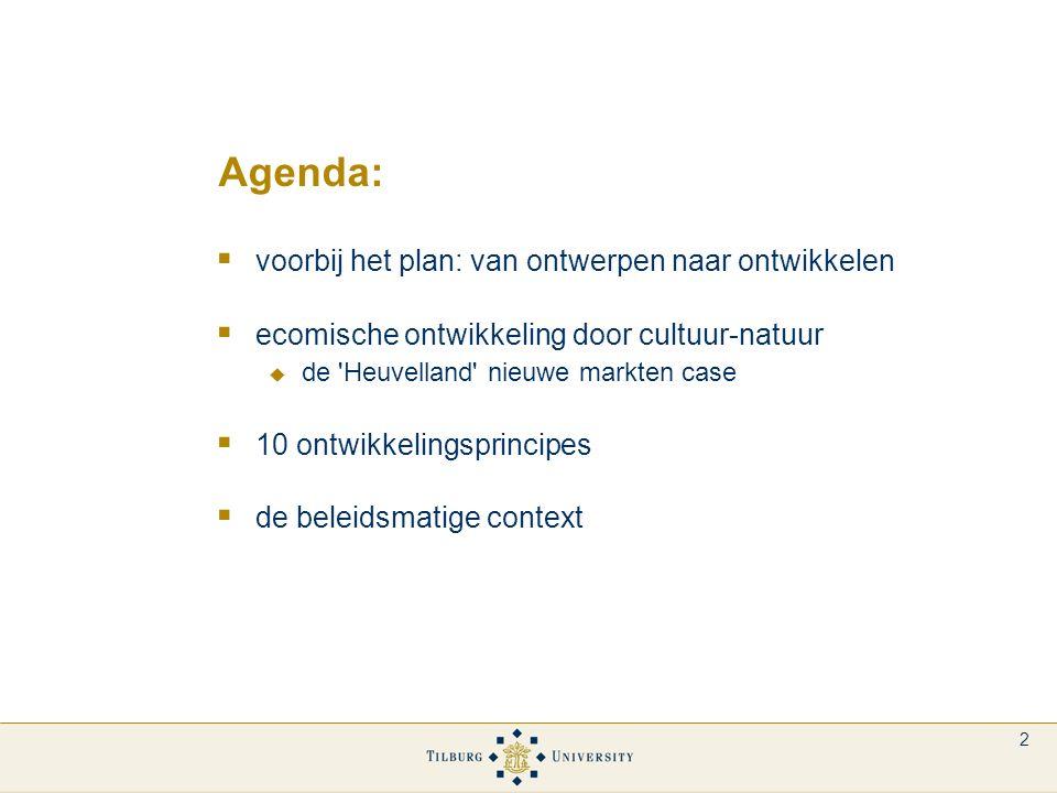 3 Voorbij het plan  toenemende ruimtelijke complexiteit / onzekerheid / dynamiek  wenselijkheid marktgedragen ruimtelijk beleid