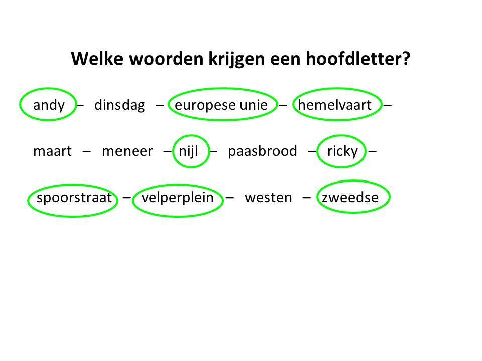 Leestekens Een zin eindigt met een punt (.), vraagteken (?) of uitroepteken (!).