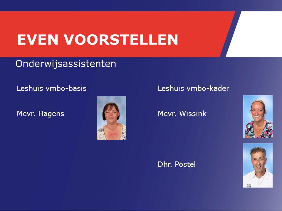 Onderwijsassistenten Leshuis vmbo-basisLeshuis vmbo-kader Mevr.
