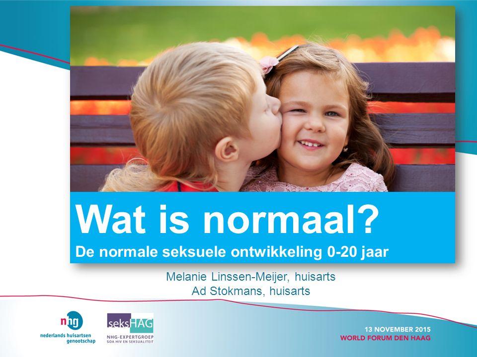 Melanie Linssen-Meijer, huisarts Ad Stokmans, huisarts Wat is normaal.