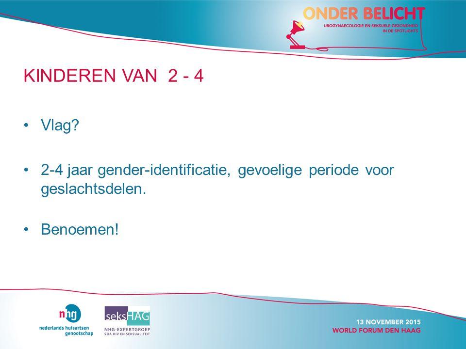 KINDEREN VAN 2 - 4 Vlag. 2-4 jaar gender-identificatie, gevoelige periode voor geslachtsdelen.