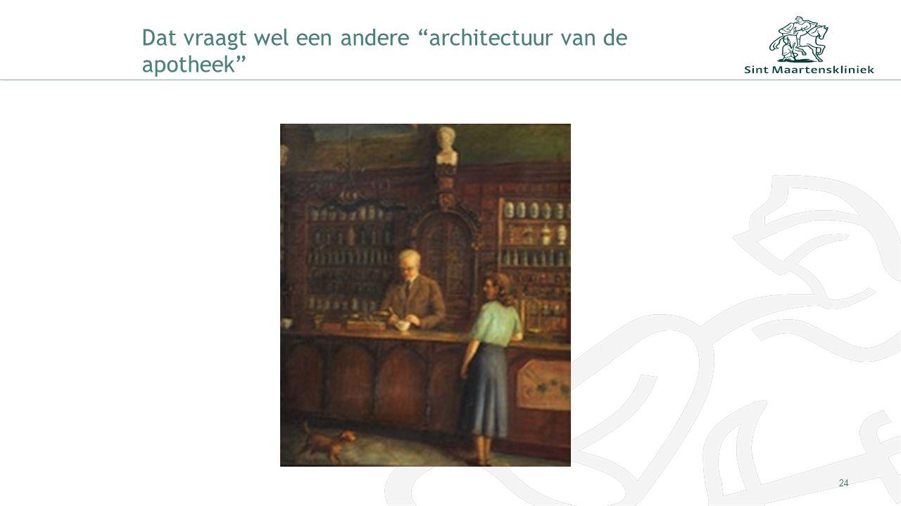 Dat vraagt wel een andere architectuur van de apotheek 24