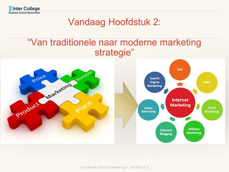 Handboek Online Marketing 4, Hoofdstuk 2 Vandaag Hoofdstuk 2: Van traditionele naar moderne marketing strategie