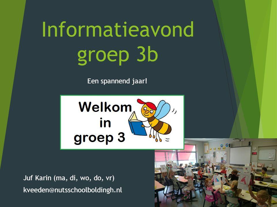 Informatieavond groep 3b Een spannend jaar.