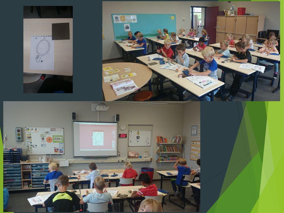 Wereld in getallen  In de kennismakingslessen (toen ze nog bij de kleuters zaten) en de eerste schoolweek hebben de kinderen de cijfers leren schrijven.