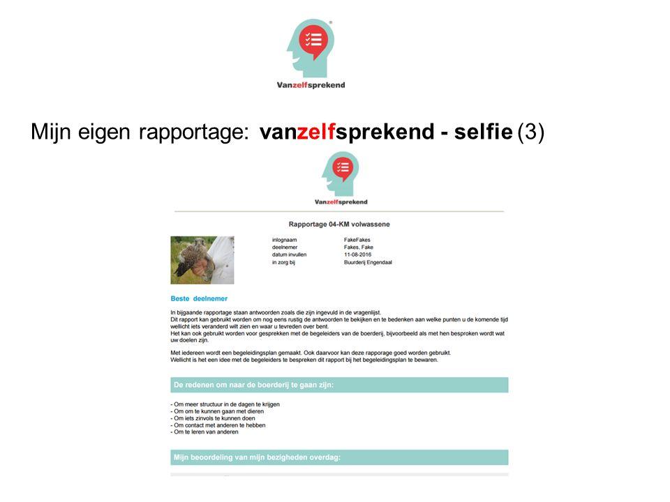 Mijn eigen rapportage: vanzelfsprekend - selfie (3)