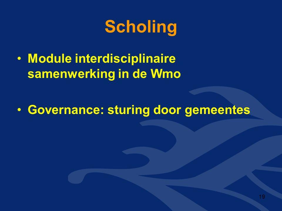 Scholing Module interdisciplinaire samenwerking in de Wmo Governance: sturing door gemeentes 19