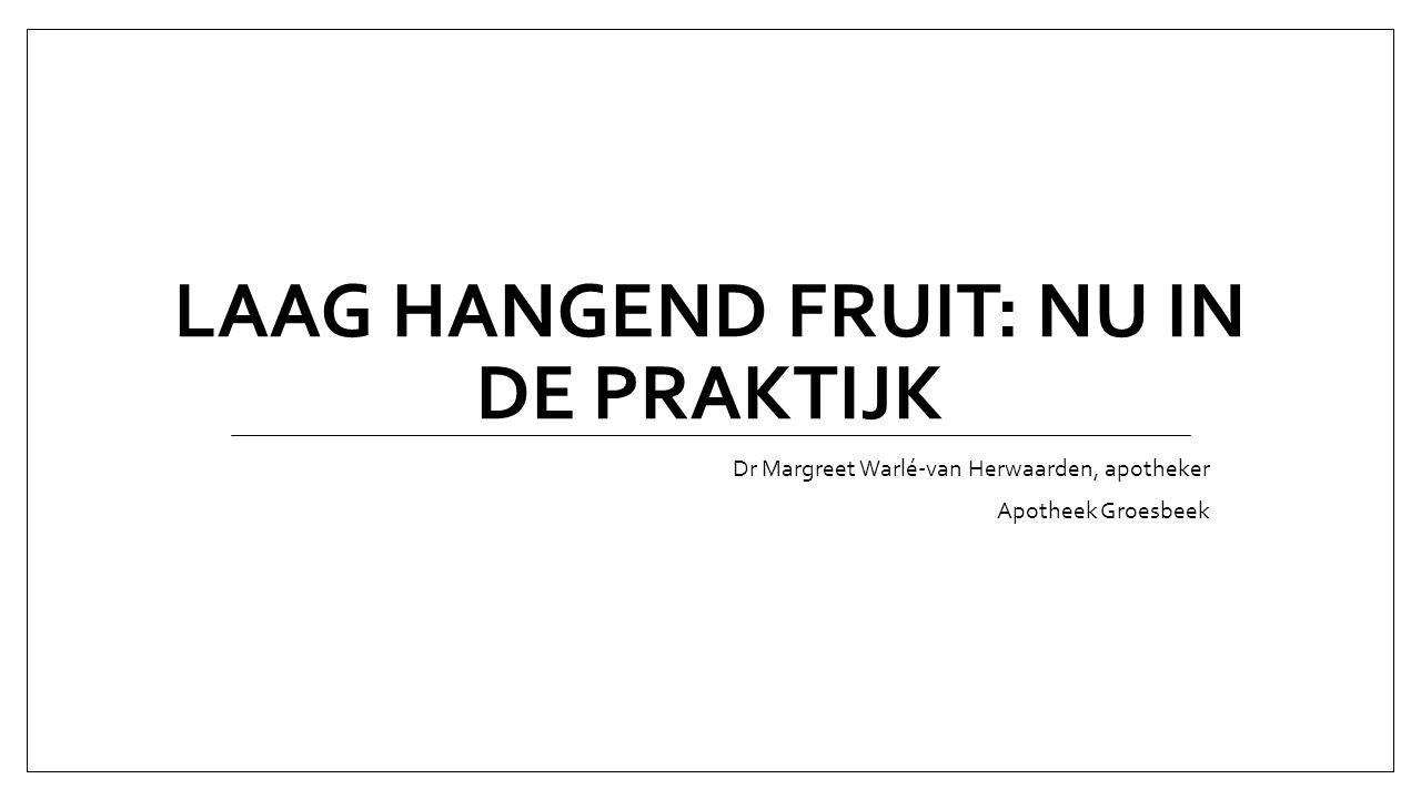 Hoe plukken we het fruit.
