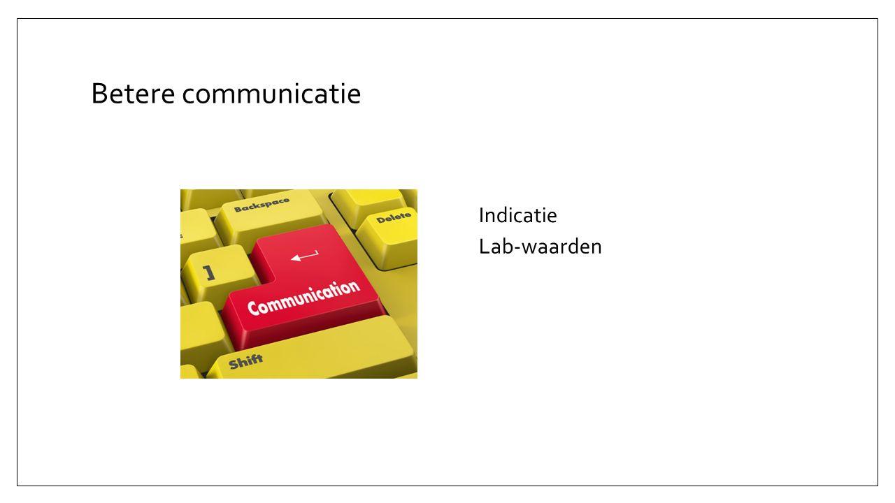 Betere communicatie Lab-waarden Indicatie