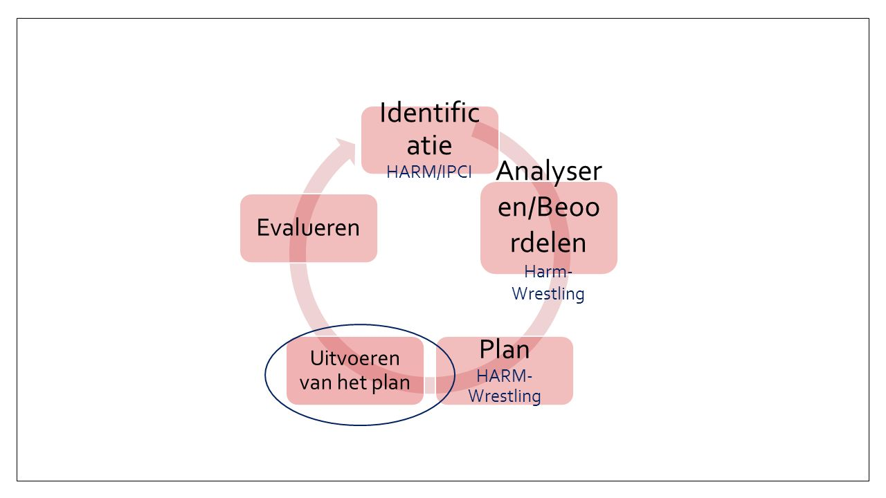 Identific atie HARM/IPCI Analyser en/Beoo rdelen Harm- Wrestling Plan HARM- Wrestling Uitvoeren van het plan Evalueren