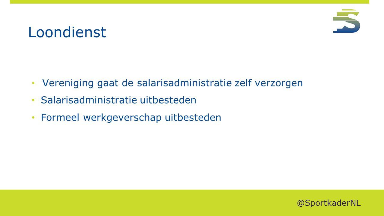 Loondienst Vereniging gaat de salarisadministratie zelf verzorgen Salarisadministratie uitbesteden Formeel werkgeverschap uitbesteden @SportkaderNL