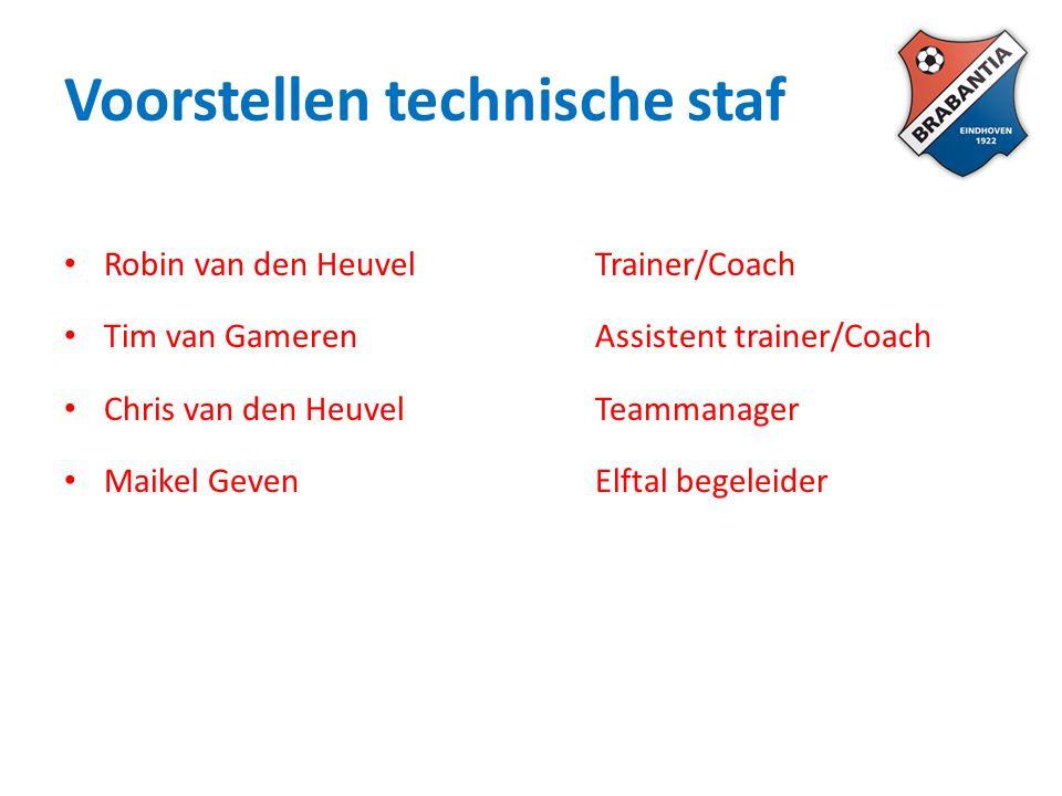 Algemene informatie Trainingen: -Dinsdag en donderdag -Locatie: Hoofdveld -Aanwezig: 18.30 uur / start warming up: 18.45 uur / start training: 19.00 uur.