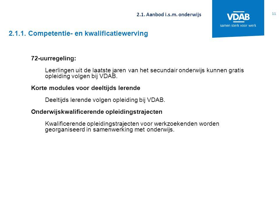 2.1.1. Competentie- en kwalificatiewerving 11 2.1.
