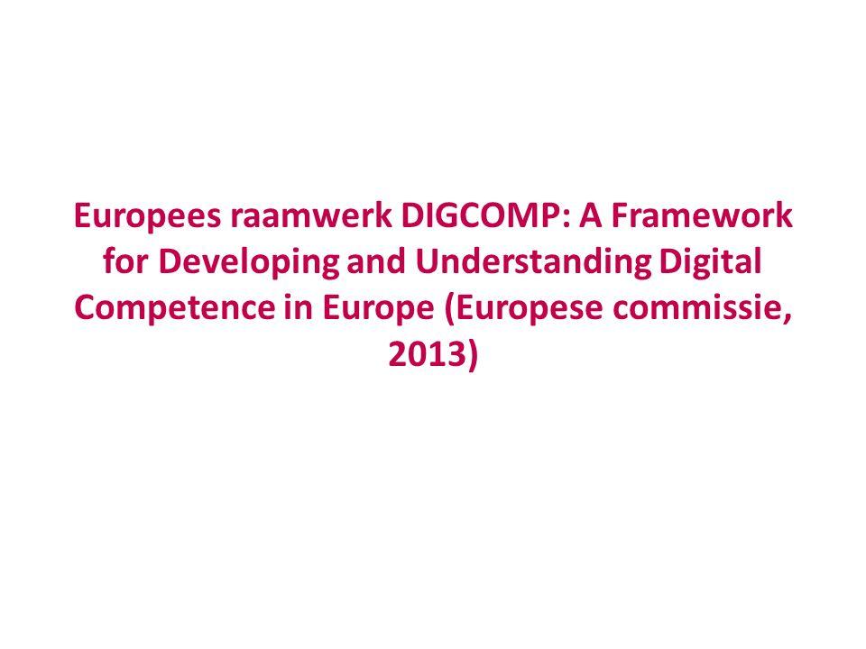 5 domeinen  Informatie  Communicatie  Contentcreatie  Veiligheid  probleemoplossing